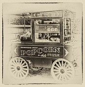 Wagon Wheels Photos - Fresh popcorn by Arnie Goldstein