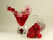 Stylized Food Photos - Fresh Raspberry Cosmos Delight by Inspired Nature Photography By Shelley Myke
