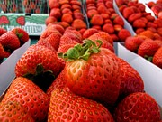 Local Food Photo Prints - Fresh Strawberries Print by Peggy J Hughes