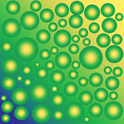 Lemon Art Posters - Fresh tropical bubbles Poster by Gaspar Avila
