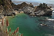Big Sur Ca Art - Fresh Water Into The Bay by Adam Jewell