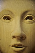 Woodcarving Posters - Freshly carved face Poster by Matt MacMillan