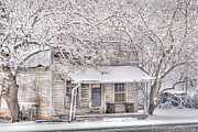 Snow Scene Metal Prints - Freshwater Grocery Metal Print by Benanne Stiens