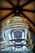 Pottawatomie Posters - Fresnel Lens Replica - Pottawatomie Lighthouse at Rock Island Poster by Carol Toepke