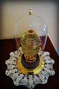Pottawatomie Prints - Fresnel Lens Replica in Tower of  Pottawatomie Lighthouse Museum on Rock Island Print by Carol Toepke
