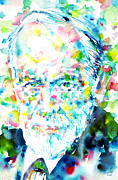 Freud Framed Prints - Freud Sigmund Portrait.1 Framed Print by Fabrizio Cassetta