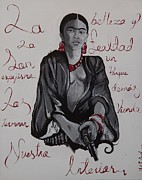 Mexican Artists Framed Prints - Frida Framed Print by Aguilar and Company