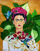 Diego Rivera Framed Prints - Frida In Heaven Framed Print by Arathi Nair