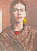 Lacquer Framed Prints - Frida in Sepia Framed Print by Pg Reproductions