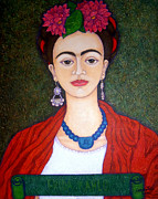 Madalena Lobao-Tello - Frida Kahko portrait with dahlias