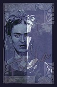 Zeitgeist Prints - Frida Kahlo - between worlds Print by Richard Tito