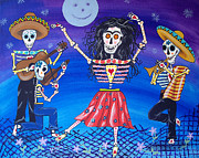 Symbology Painting Prints - Frida Kahlo Dances Day of the Dead Print by Julie Ellison