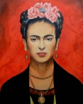 Frida Framed Prints - Frida Kahlo Framed Print by Elena Day