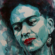 Lips Paintings - Frida Kahlo by Paul Lovering