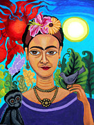 Genevieve Esson - Frida Kahlo With Monkey and Bird