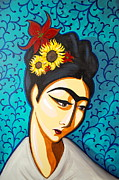 Diego Rivera Framed Prints - Frida Framed Print by Rebecca Mott