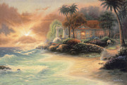 Kinkade Framed Prints - Friday Evening Summer Framed Print by Chuck Pinson