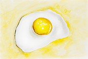 Art Product Painting Prints - Fried egg concept Print by Irina Gromovaja