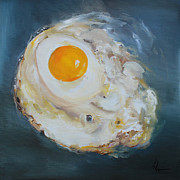 Brunch Paintings - Fried Egg by Kristine Kainer