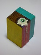 Assemblage Sculpture Originals - Fried Eye Ball by Douglas Fromm