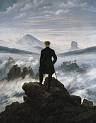 Wanderer Photos - Friedrich, Caspar David 1744-1840. The by Everett