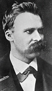 Mustache Photo Prints - Friedrich Wilhelm Nietzsche Print by French Photographer