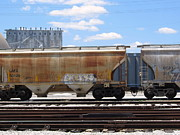 Rivets Art - Frieght Train Cars 7 by Anita Burgermeister