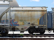 Rivets Art - Frieght Train Cars 8 by Anita Burgermeister