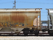 Rivets Art - Frieght Train Cars 9 by Anita Burgermeister