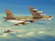 B-52 Prints - Friendly Escort Print by Dale Jackson