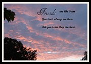 Life Lessons Posters - Friends are like Stars Poster by Gail Matthews