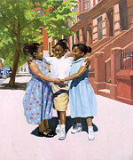 African American Paintings - Friends by Colin Bootman