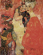 Klimt. Nude Woman Posters - Friends Poster by Gustav Klimt