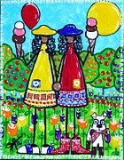 Ice Cream Cones Prints - Friends Print by Jackie Carpenter