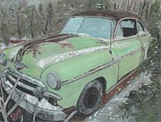 1950s Cars Painting Framed Prints - Friendship Framed Print by Cliff Wilson