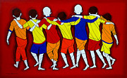 Tribal Art Gallery Paintings - Friendship by Jiaur Rahman
