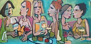 Night Out Paintings - Friendships by Heather Leonard