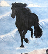 Sandra Maddox - Friesian Horse In The...