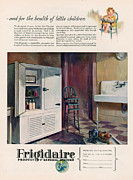 Featured Metal Prints - Frigidaire 1926 1920s Usa Cc Fridges Metal Print by The Advertising Archives