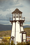 Architecture Prints - Frisco Bay Marina Lighthouse Print by Juli Scalzi