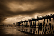 Outer Banks Photos - Frisco Pier Infrared by Bruce Siulinski
