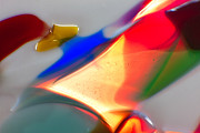 Macro Photos Glass Art - Frisky Puppy by Omaste Witkowski