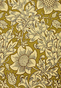 Gold Tapestries - Textiles Posters - Fritillary Design 1885 Poster by William Morris