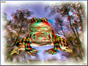 Reflections In River Prints - Frog 3D Anaglyph Print by Daniel Janda