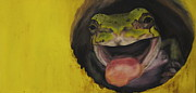 Oil Art - Frog by Lindsey Weinrich