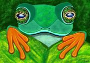 Nick Gustafson - Frog peeking over leaf