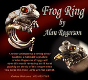 Frog Jewelry - Frog Ring by Alan Rogerson