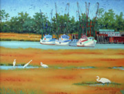 Frogmore Framed Prints - Frogmore Boats Framed Print by Dwain Ray