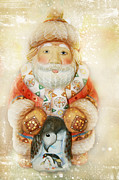 Saint Nicholas Prints - frohe Weihnachten Print by Sharon Mau