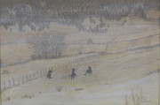 Stormy Weather Paintings - Frolic in the Snow by Joyce Blank